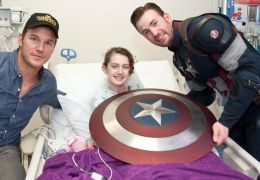 Chris Pratt und Chris Evans im Seattle's Children Hospital
