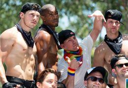 Channing Tatum auf der Gay Pride Parade