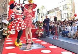 Minnie Mouse und Katy Perry bei der Sternfeier auf...Fame