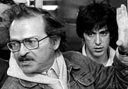 Sidney Lumet und Al Pacino beim Dreh von 'Hundstage' (1975)