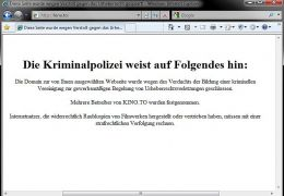 Screenshot der Domain Kino.to