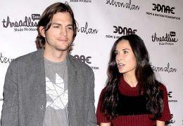 Ashton Kutcher mit Demi Moore