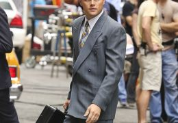 DiCaprio am Set von 'The Wolf Of Wall Street'