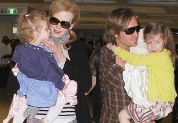 Nicole Kidman mit Keith Urban und ihren Töchtern