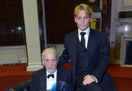 Sir Christopher Lee mit Johnny Depp, 19.10.2013