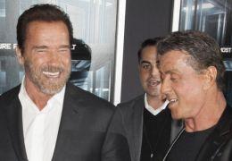 Arnold Schwarzenegger mit Sylvester Stallone