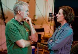 Avatar - Regisseur James Cameron und Sigourney Weaver