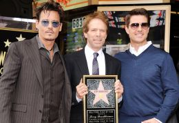 Johnny Depp mit Jerry Bruckheimer und Tom Cruise