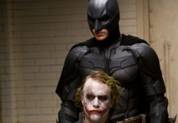 The Dark Knight mit Heath Ledger und Christian Bale