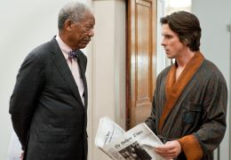 Morgan Freeman und Christian Bale in The Dark Knight Rises