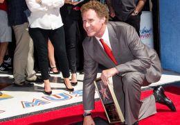 Will Ferrell mit seinem Stern auf dem Walk of Fame