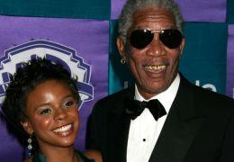 E'Dena Hines und Morgan Freeman