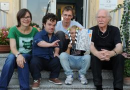 Das Team am ersten Drehtag, v.l.n.r.: Evi Goldbrunner...era).