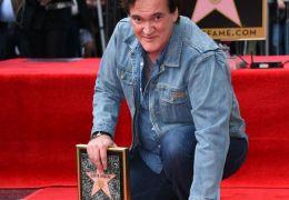 Quentin Tarantino mit seinem Stern