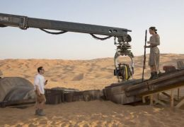 Regisseur J.J. Abrams und Daisy Ridley bei den...akens