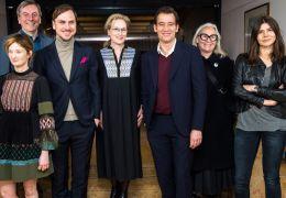 Die Wettbewerbs-Jury der Berlinale mit (v.l.nr.):...owska