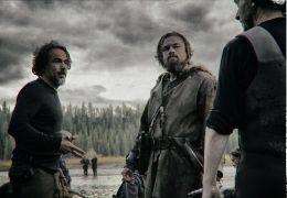 The Revenant mit Regisseur Alejandro Inarritu,...v.l.)