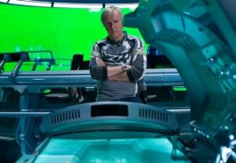 Regisseur James Cameron am Set seines Films Avatar -...ndora