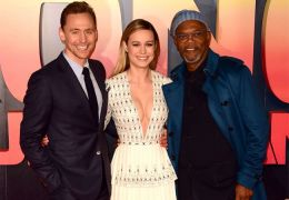 Tom Hiddleston, Brie Larson uns Samuel L. Jackson