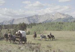 Mit Planwagen und Pferden durchqueren die Freegrazer...rärie