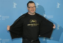 Lars von Trier mit seinem 'Persona non grata'-T-Shirt...2014