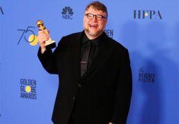 Guillermo del Toro mit dem Golden Globe