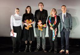 Die Gewinner der Kompagnon-Förderpreise mit der Jury:...fmann